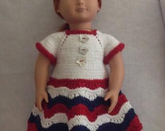 "18"" Doll 4th of July Knit Dress"