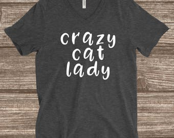 Crazy Cat Lady Unisex Funny T-shirt