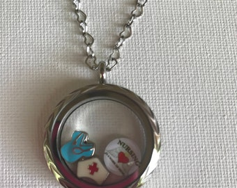 Waterproof Stainless Steel 30 mm Memory Living Locket Heart Necklace