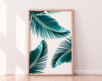 Palm Leaf Print Tropical Leaf Print Digital Wall Art