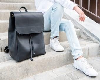 Women's Leather Backpack By OKRA, Teenager Backpack, School Bag, Geniune Leather Backpack, Travel bag, Bag for men, Rucksack