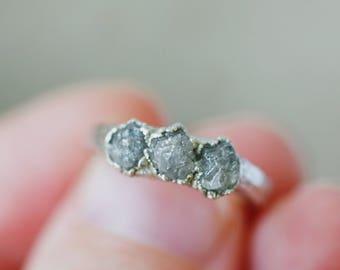 Diamond Engagement Ring: handmade promise ring, romantic jewelry for her, romantic jewelry for girlfriend, romantic jewelry for wife
