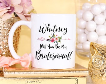 Bridal Party Gift, Bridal Party Gifts, Bridesmaid Proposal, Bridal Party, Personalized, Maid Of Honor, Matron Of Honor, Custom Mug, Mugs