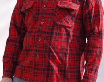 True vintage 1970s Pendleton virgin wool plaid shirt