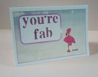 Your Fab Flamingo Card A6