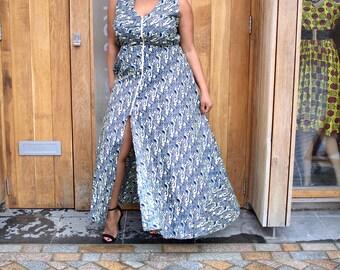 Isabella African Print Maxi Dress