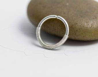 16G 18G 20G 22G Coiled Nose Hoop Ring or Cartilage Earring