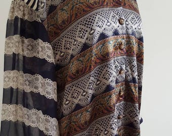 ESCADA by MARGARETHA LEY Multi Print Silk Blouse
