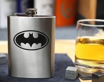 Batman - Stainless Steel Hip Flask