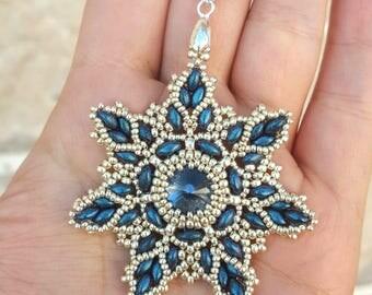Snowflake Pendant- beading pattern