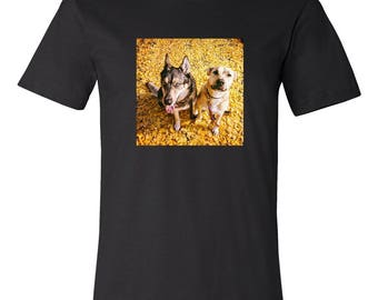 CUSTOM PHOTO T-SHIRT - Get your Instagram photos, Iphone, Android, or any photos you have printed on a black shirt.