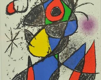 Joan Miro, Plate III from 'Peintures, gouaches, dessins'