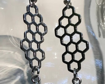 Honeycomb Earrings, Queen Bee is included