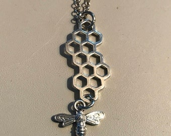Bees Honeycomb Necklace