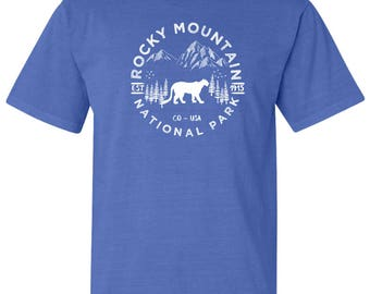 Rocky Mountain National Park Adventure Comfort Colors TShirt