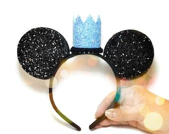 Minnie Mouse Headband | Minnie Ear Headband | Cinderella Minnie Ears | Disneyland | Disney World | Princess Crown | Princess Headband
