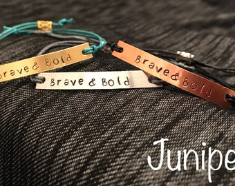 Brave & Bold cord bracelet (It Ends With Us, Colleen Hoover)