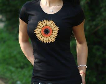 Sunflower Tshirt Summer shirt Gift for Women Sunflower shirt sunflower T-shirt garden t shirt flowers shirt Women's Tshirt