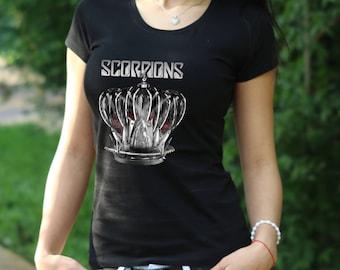 Scorpions T-shirt Scorpions band shirt Scorpions tour Tshirt Womens Shirt Rock Tee Rock Heavy Metal Tshirt Scorpions t shirt