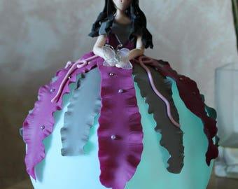 Night light purple and grey princess