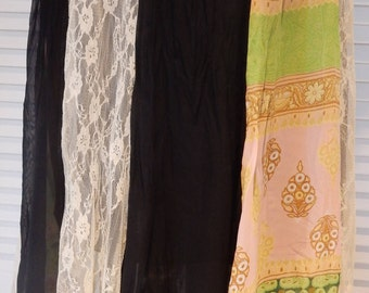 Bohemian Hippie Handkerchief Hemline Panelled  Gypsy Skirt