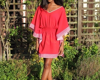 Red Kaftan cover-up