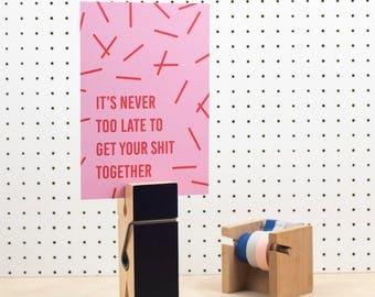 Get Your Shit Together A5 print - Funny motivational print - Funny motivational quotes - Funny prints - Motivational art print - Wall art