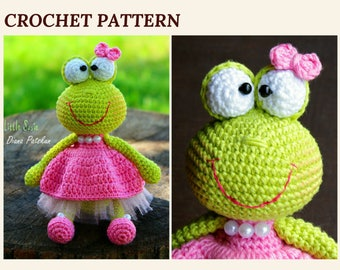 Crochet Frog Pattern Green Frog Toy Amigurumi Frog Pattern Crochet Animal Toddler Toy