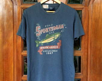 Vintage POLO SPORTSMAN ralph lauren fish fishing shirt/medium size