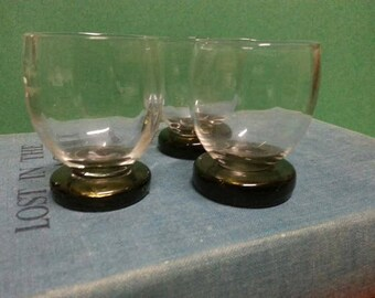Vintage Smokey Shot Glasses (3)