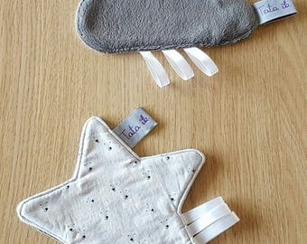 Set of 2 toys flat star and cloud