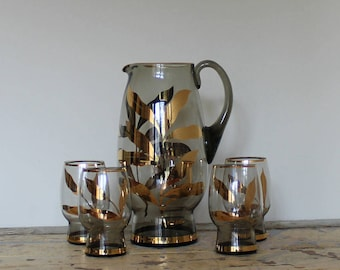 Vintage Glass Water Set
