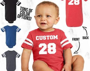 Custom Infant Football Shirt - Unisex Infant Bodysuit - Kids Football Tee - Custom Infant Jersey - Infant Birthday Gift - Custom Baby Jersey