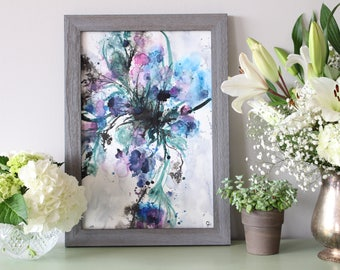 Abstract Flower Painting - Original Watercolor Art -  Floral Painting by Jeska Losonsky