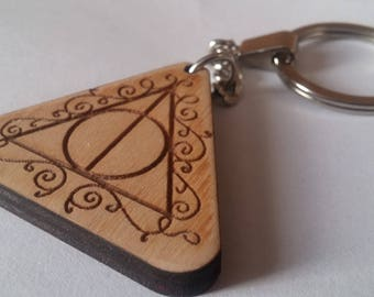 Key chain Engraved Key chain Personalized Keychain Wood Keyring Key Ring Gift For Friends Gift For Sweetheart Harry Potter Keychainn