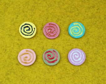 Ceramic Magnet Set/Rainbow Magnets/Pottery Magnets/Colorful Magnet/Fun Refrigerator Magnets/Decorative Magnets/Waldorf Decor/
