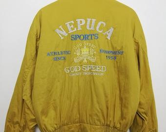 Vintage Nepuca Sports God Speed Big Logo Jacket