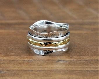 """Spinner Ring - """"Joy"""" Meditation Ring, Worry Ring, Fidget Ring"""