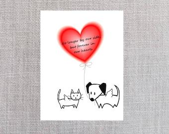 Pet Angels Pet Loss Sympathy Card