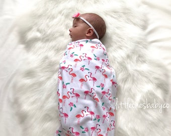Flamingo Swaddle, Sleep Sack, Baby Sleeping Bag, Cocoon Swaddle, Baby Blanket