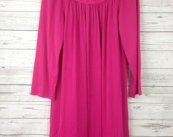 VTG Pink long sleeve nylon Shadowline Nightgown Womens SZ S READ! 128