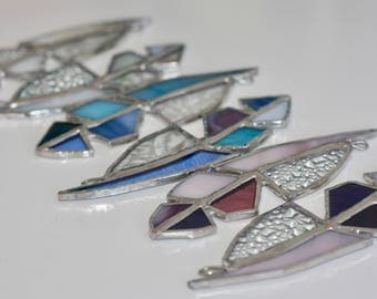 Little Stained Glass Feathers, Purple
