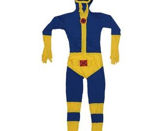 Cyclops Costume Cosplay Spandex X-Men Comic Book Version Movie Original Superhero Suit Scott Summers Super Hero High Quality