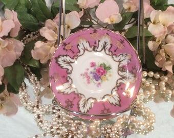 Pink Lusterware Tea Saucer, Japan