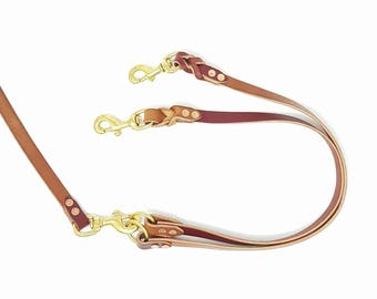 Braided Leather Dog Leash Coupler/Extension