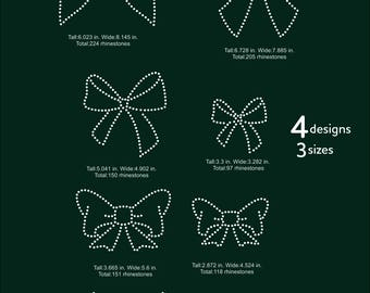 Ribbons mega pack rhinestone templates digital download, svg, eps, png, dxf