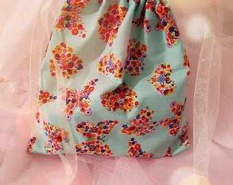 Pretty as a Butterfly Pre-filled Fabric Drawstring Party Bag