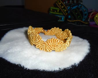 Golden Macrame Friendship Bracelet