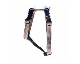 Brown Houndstooth Harness