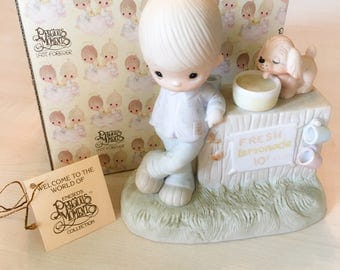 Vintage Precious Moments Thank You For Coming To My Ade Figurine E-5202